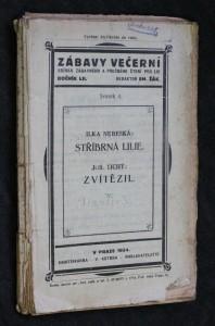 náhled knihy - Zábavy večerní, ročník LII.., svazek 4.:Stříbrná lilie. Zvítězil.