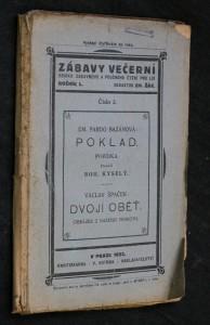 náhled knihy - Zábavy večerní, ročník L., číslo 2.:Poklad. Dvojí oběť.