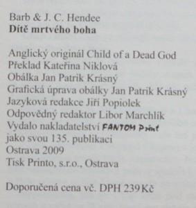 antikvární kniha Dítě mrtvého boha, 2009