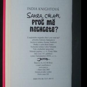 antikvární kniha Sakra, chlapi, proč mě nechcete?, 2007