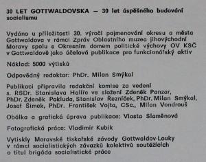 antikvární kniha 30 let Gottwaldovska. 30 let úspěšného budování socialismu , neuveden
