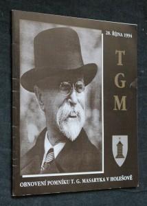 náhled knihy - Znovuobnovení pomníku T.G. Masaryka v Holešově