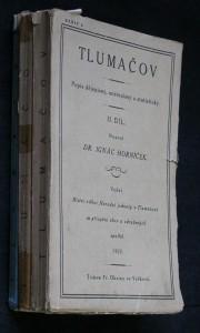 náhled knihy - Tlumačov : popis dějepisný, místopisný a statistický. II. díl, 3 sešity