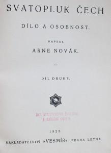 antikvární kniha Svatopluk Čech : dílo a osobnost. Díl II, 1923