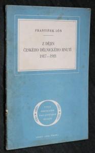 náhled knihy - Z dějin českého dělnického hnutí 1917-1921