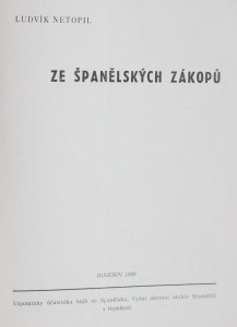 antikvární kniha Ze španělských zákopů , 1969