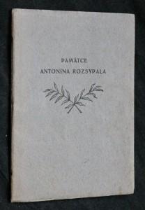 náhled knihy - Památce Antonína Rozsypala