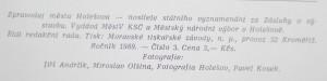 antikvární kniha Zpravodaj města Holešov, č. 3, 1989
