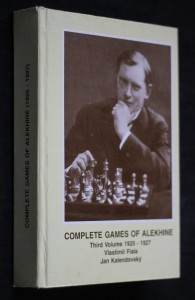 náhled knihy - Complete games of Alekhine, third volume 1925-1927