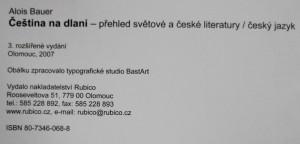antikvární kniha Čeština na dlani : přehled světové a české literatury, český jazyk, 2007