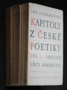 Kapitoly z české poetiky 1.-3. díl
