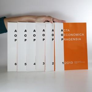 náhled knihy - Acta Oeconomica Pragensia. č. 1-6/2013. (6 svazků)