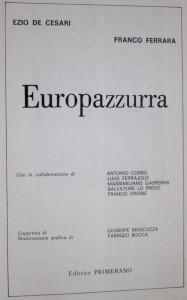 antikvární kniha Europazzurra , neuveden