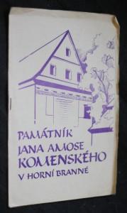 náhled knihy - Památník Jana Amose Komenského v Horní Branné
