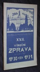 náhled knihy - XXII. výroční zpráva za školní rok 1930-1931, zem. reálné gymnasium v Holešově