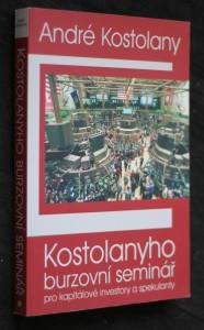 náhled knihy - Kostolanyho burzovní seminář pro kapitálové investory a spekulanty