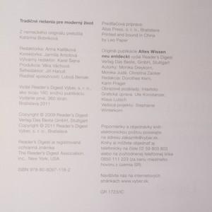 antikvární kniha Tradičné riešenia pre moderný život, 2011