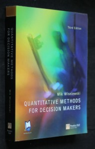 náhled knihy - Quantitative methods for decision makers