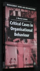 náhled knihy - Critical cases in organisational behaviour