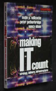 náhled knihy - Making IT count strategy, delivery, infrastructure
