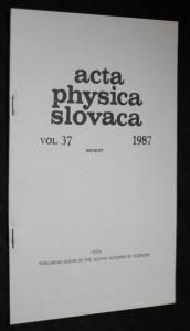 náhled knihy - Acta physica slovaca vol.37