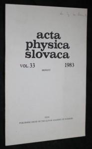 náhled knihy - Acta physica slovaca vol.33