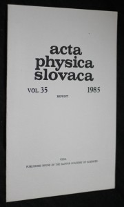 náhled knihy - Acta physica slovaca vol.35