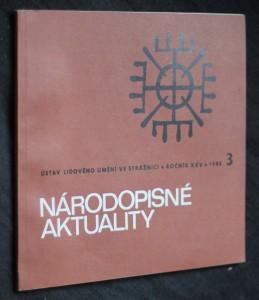 náhled knihy - Národopisné aktuality, ročník XXV. č. 3.