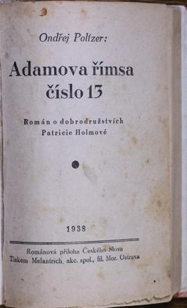 náhled knihy - Adamova římsa číslo 13 : román o dobrodružstvích Patricie Holmové