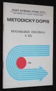 náhled knihy - Metodický dopis, psychologie volejbalu II. díl