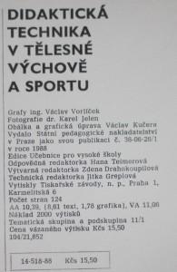 antikvární kniha Didaktická technika v tělesné výchově a sportu, 1988