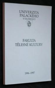 náhled knihy - Fakulta tělesné kultury 1996-1997