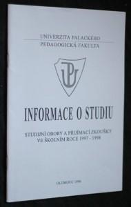 náhled knihy - Informace o studiu, studijní obory a přijímací zkoušky ve školním roce 1997-1998