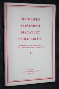 náhled knihy - Historické zkušenosti diktatury proletariátu : redakční články listu Ženminžibao ze dne 7. dubna 1956 a ze dne 29. prosince 195