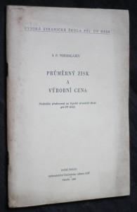 náhled knihy - Průměrný zisk a výrobní cena