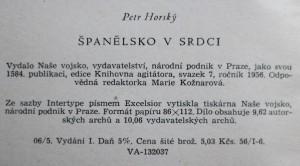 antikvární kniha Španělsko v srdci, 1956