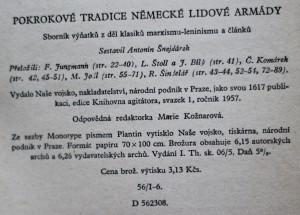 antikvární kniha Pokrokové tradice německé lidové armády 1/1957, 1957