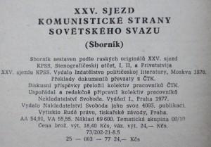antikvární kniha XXV. sjezd komunistické strany Sovětského svazu 24. února-5. března 1976, 1977