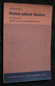 náhled knihy - Přehled světové literatury pro jednoroční učebné kursy při měšťanských školách