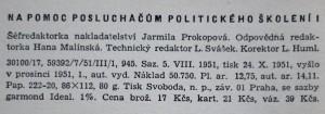 antikvární kniha Na pomoc posluchačům politického školení 2 svazky , 1951