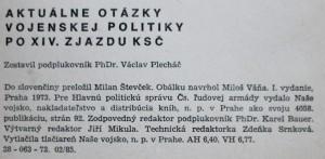 antikvární kniha Přednášky, aktuality, state. Aktuálne otázky vojenskej politiky po XIV. zjazde KSČ 13/1973, 1973