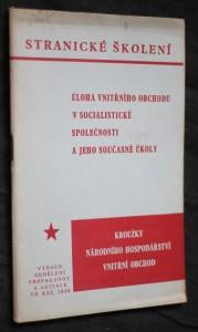 náhled knihy - Stranické školení: úloha vnitřního obchodu v socialistické společnosti a jeho současné úkoly
