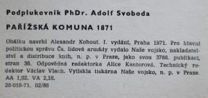antikvární kniha Pařížská komuna 1871, 1971