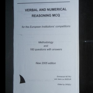 antikvární kniha Verbal and numerical reasoning MCQ. Methodology and 160 questions with answers, 2005