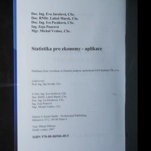 antikvární kniha Statistika pro ekonomy. Aplikace, 2007