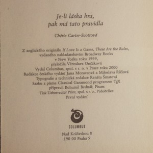antikvární kniha Je-li láska hra, pak má tato pravidla, 2000
