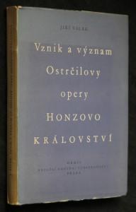 náhled knihy - Vznik a význam Ostrčilovy opery Honzovo království