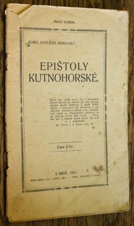 náhled knihy - Epištoly Kutnohorské