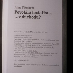 antikvární kniha Povolání textařka, 2009