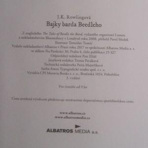antikvární kniha Bajky barda Beedleho, 2017